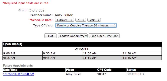 psyquel scheduling example