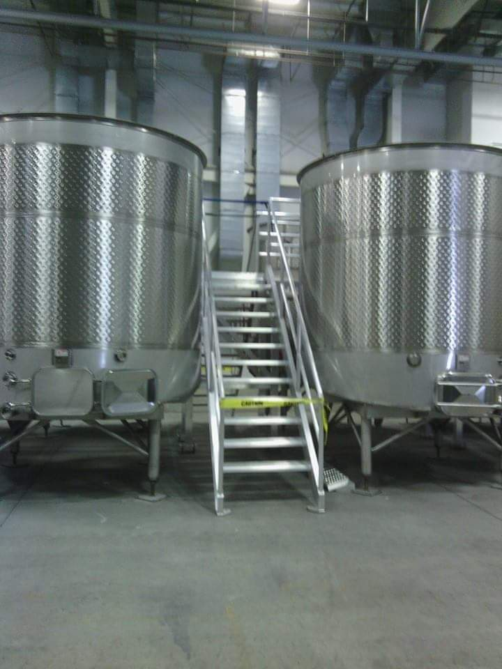 Winery Tank with Catwalk