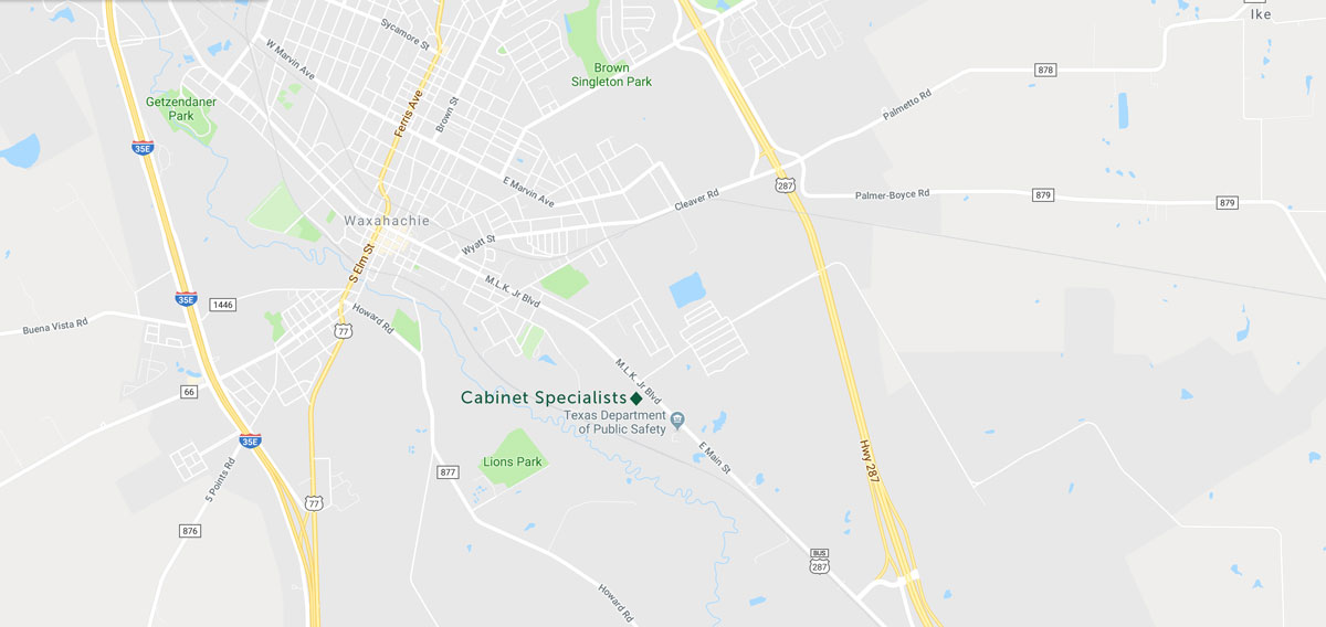 Cabinet Specialists Location Map