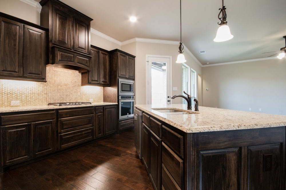 Cabinet Specialists' kitchen with dark stain