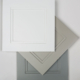 Callahan door style - white and gray paint