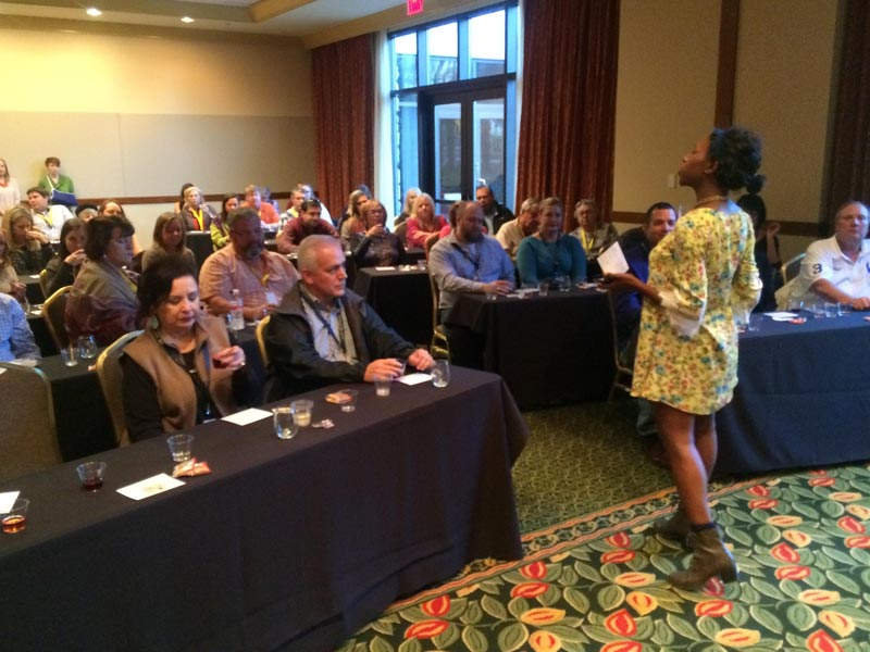 Sommelier LaSaan presenting wines of Texas