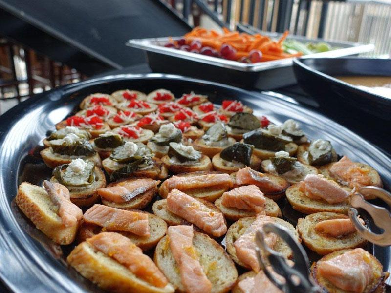 Chef prepared bites, Chef Huber