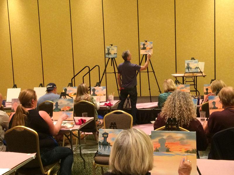 Fine Art Painter Peter in Action