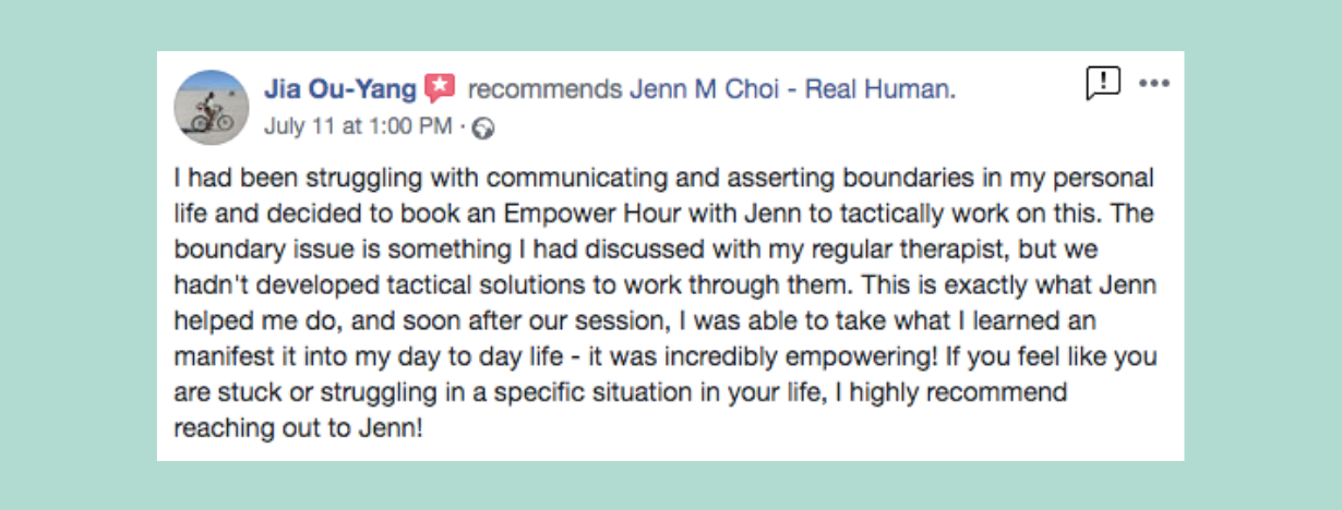 Jia testimonial Jenn M Choi Coach