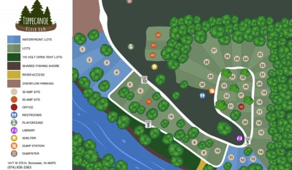 Tippecanoe River Run Map Print Piece