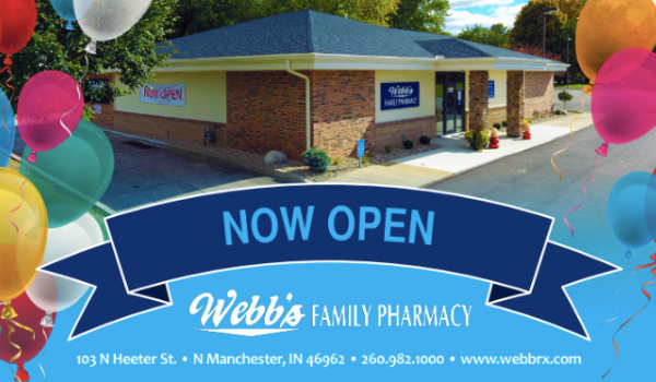 Webb's Family Pharmacy Postcard Design