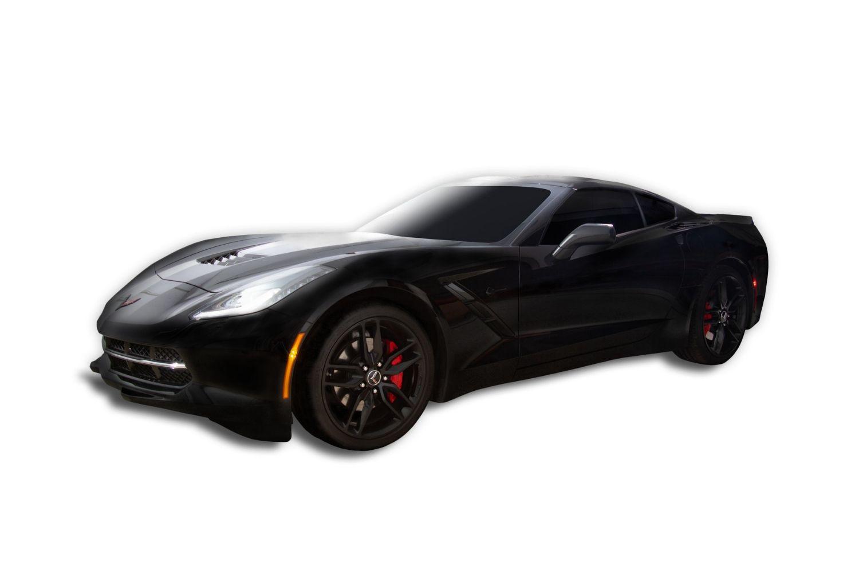 Black Chevrolet Corvette White Background