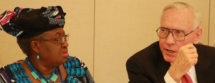 Raymond Baker and Ngozi Okonjo-Iweala