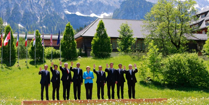 G7 Leaders meet in Schloss Elmau, Germany on June 7, 2015 | Image: European External Action Service/Flickr [CC BY-NC 2.0]