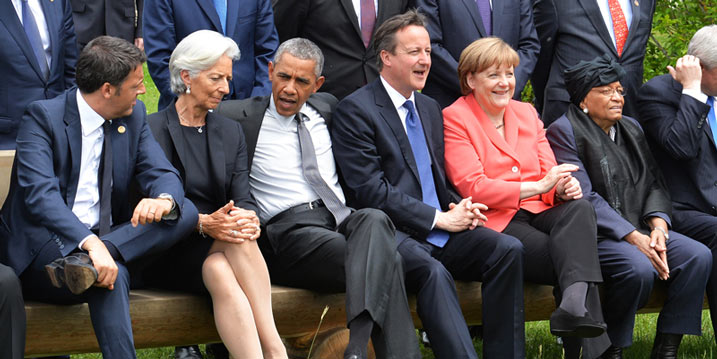 G7 leaders meet in Schloss Elmau, Germany on June 8, 2015 | Credit: Arron Hoare/Number 10/Flickr [CC BY-NC-ND 2.0]