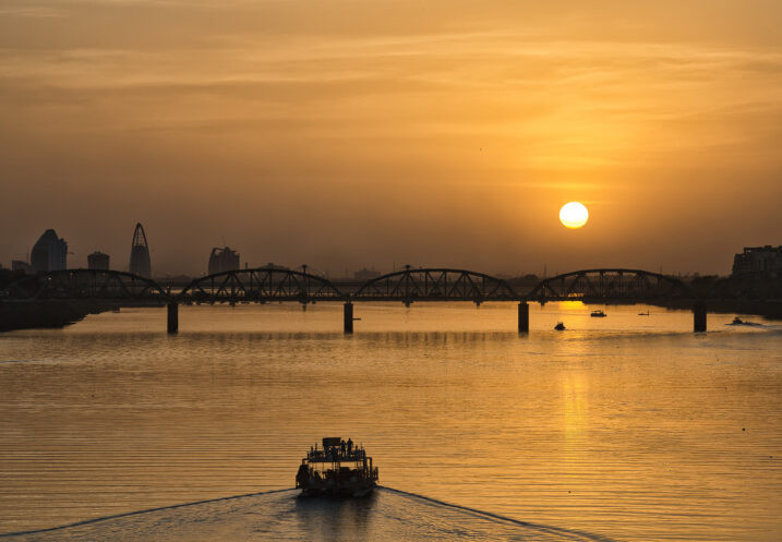 Sunset on the Nile, Sudan via Shuttershock