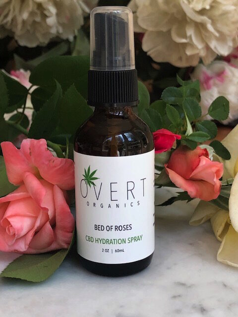 Bed of Roses, toner, hydration spray, hydration, spray, organic toner, organic hydration spray, rose water, roses, CBD, vegan, vegan toner, vegan skincare, skincare, natural toner, organic toner, CBD toner