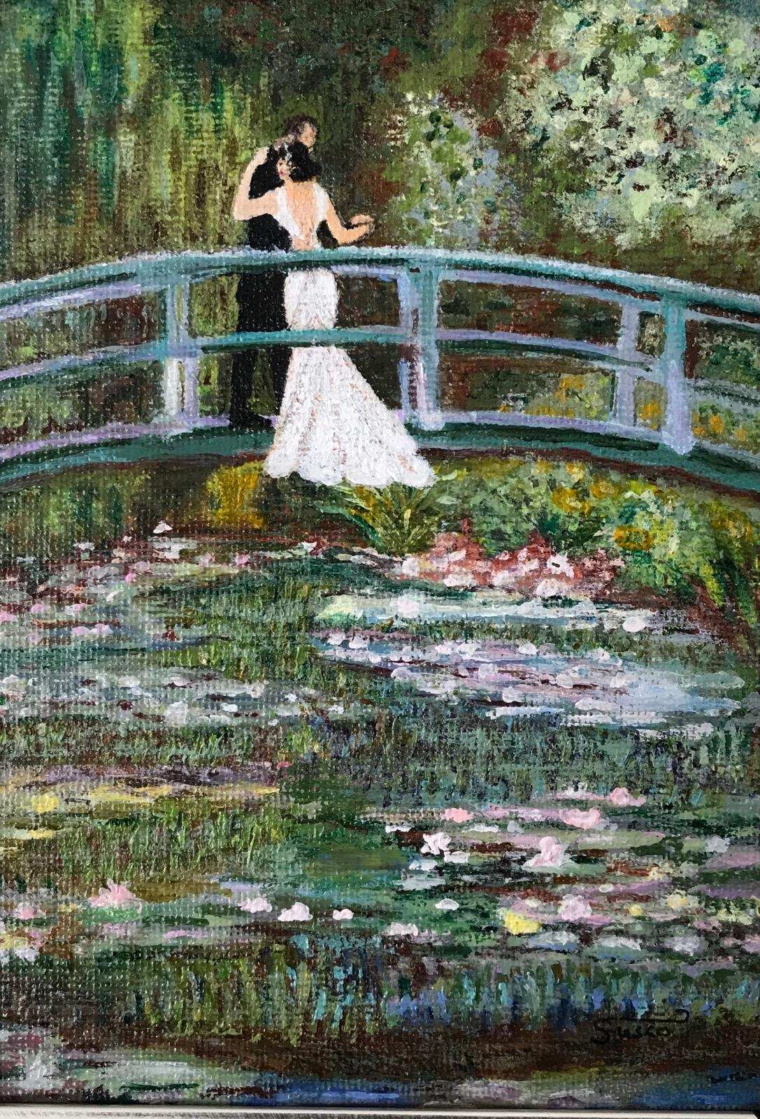 Rendition of Claude Monet's The Japanese Footbridge by Susan
