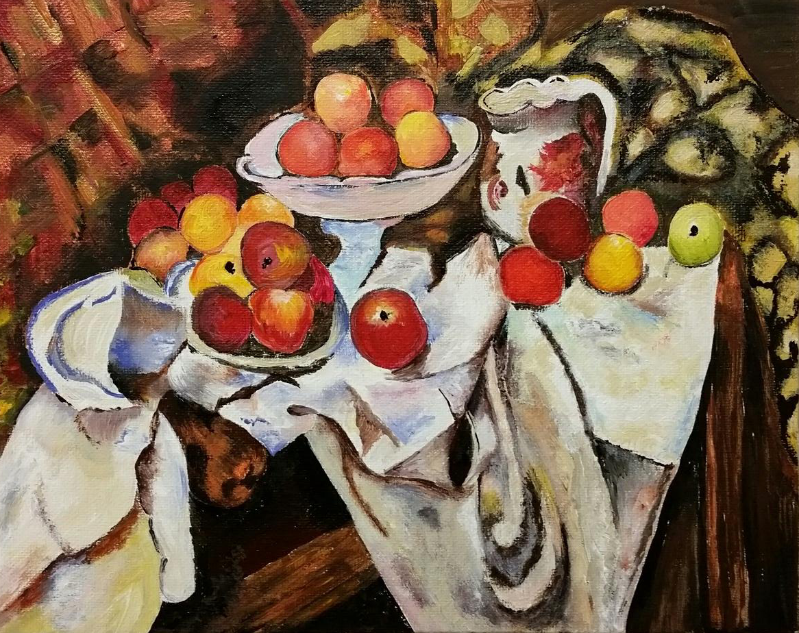 Rendition of Cezanne's Apples and Oranges by Anita
