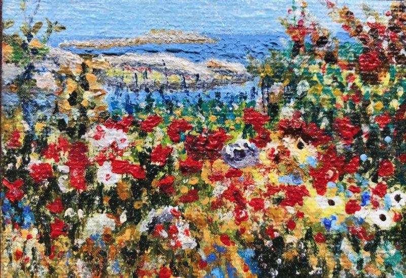 Rendition of Childe Hassam's Ocean View by Susan