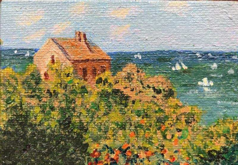 Rendition of Monet's Fisherman's Cottage on the Cliffs at Varengeville by Susan