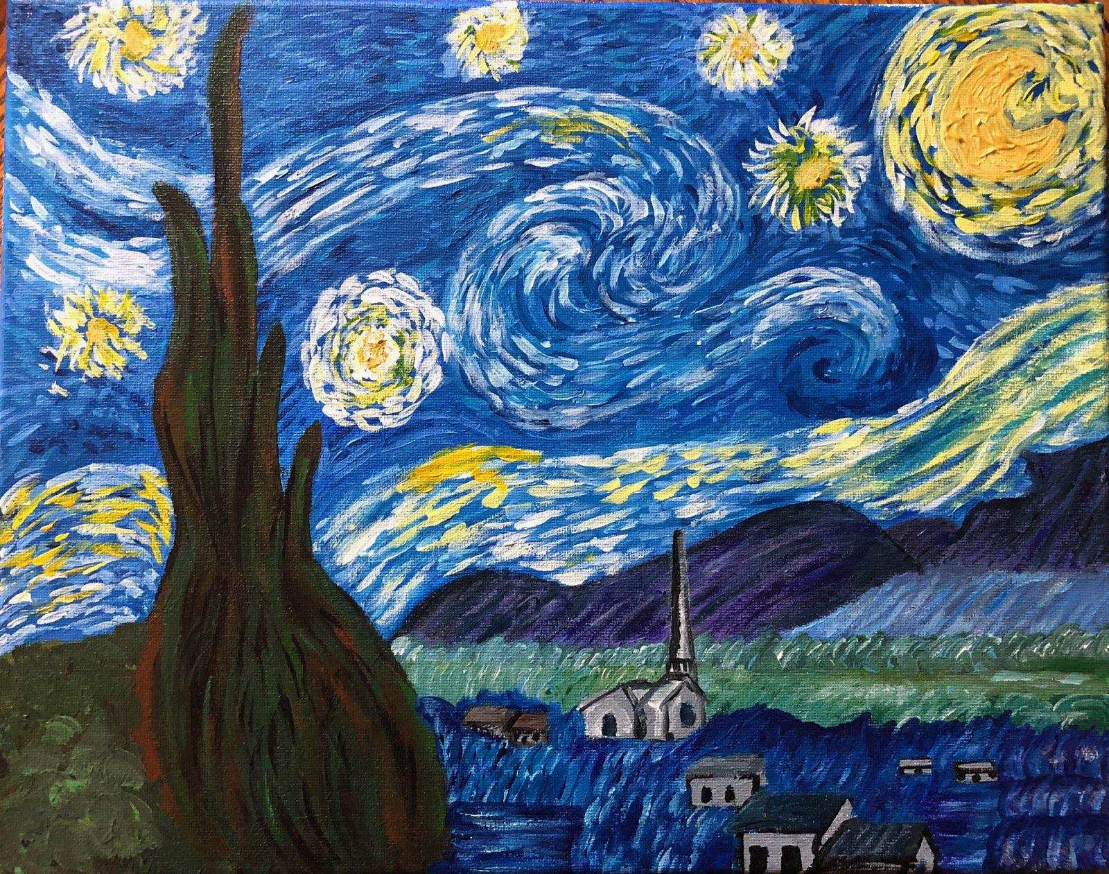 Rendition of Van Gogh's Starry Night by Mary