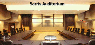 AFMC Sarris Auditorium. Array installed A/V wall