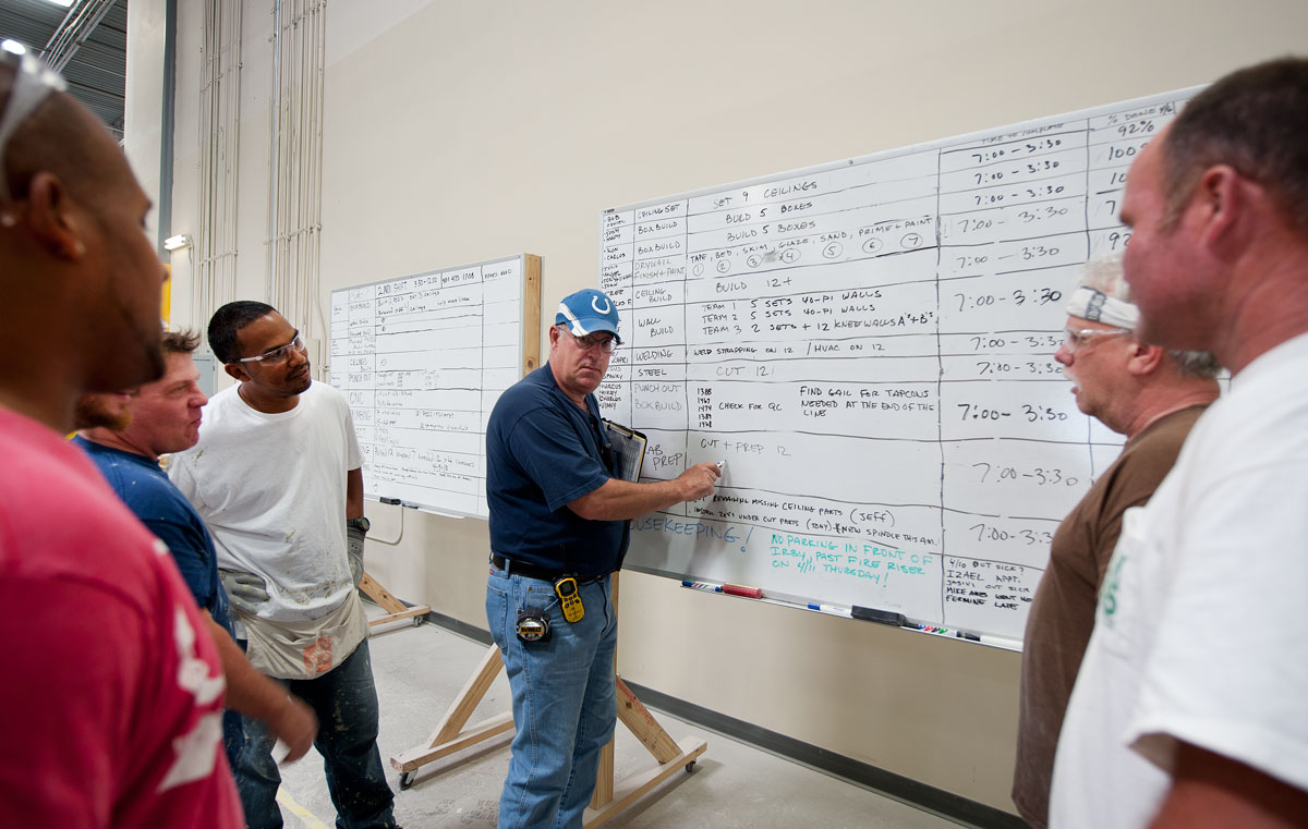job site safety instruction/training session