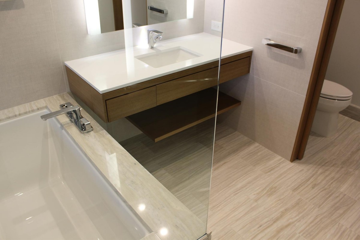 Wilshire Grand bathroom pod
