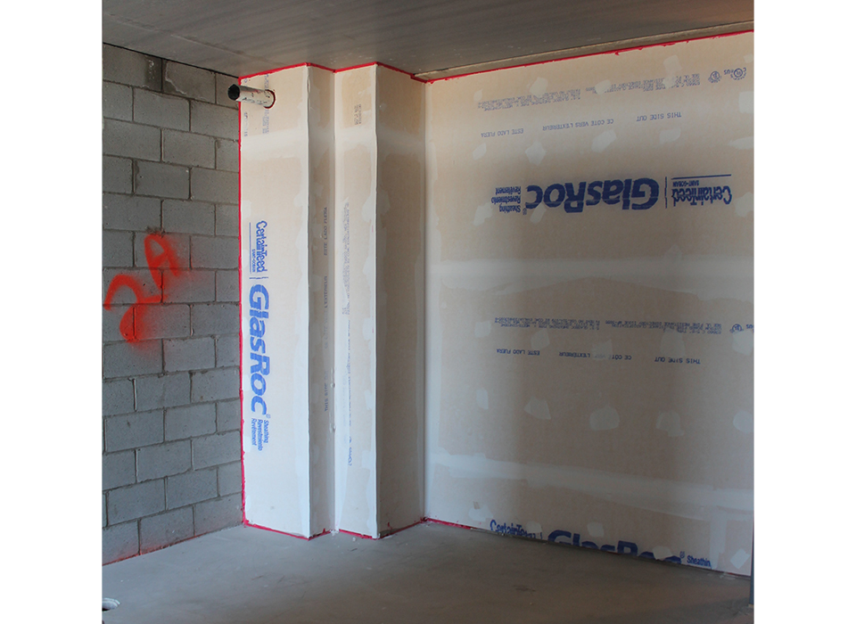 new construction of building for bathroom pod