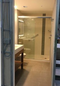 Hyatt Place bathroom being fabricated in SurePods factory