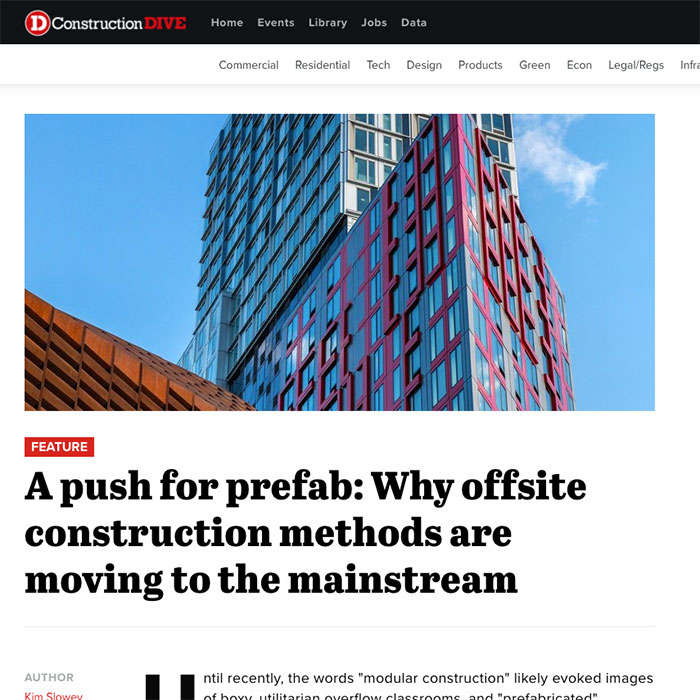 Construction Dive a push for prefab