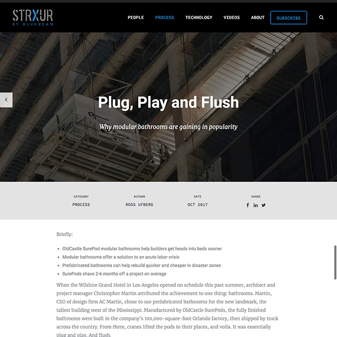 StrXur by Blue Beam Plug Pay and Flush Article