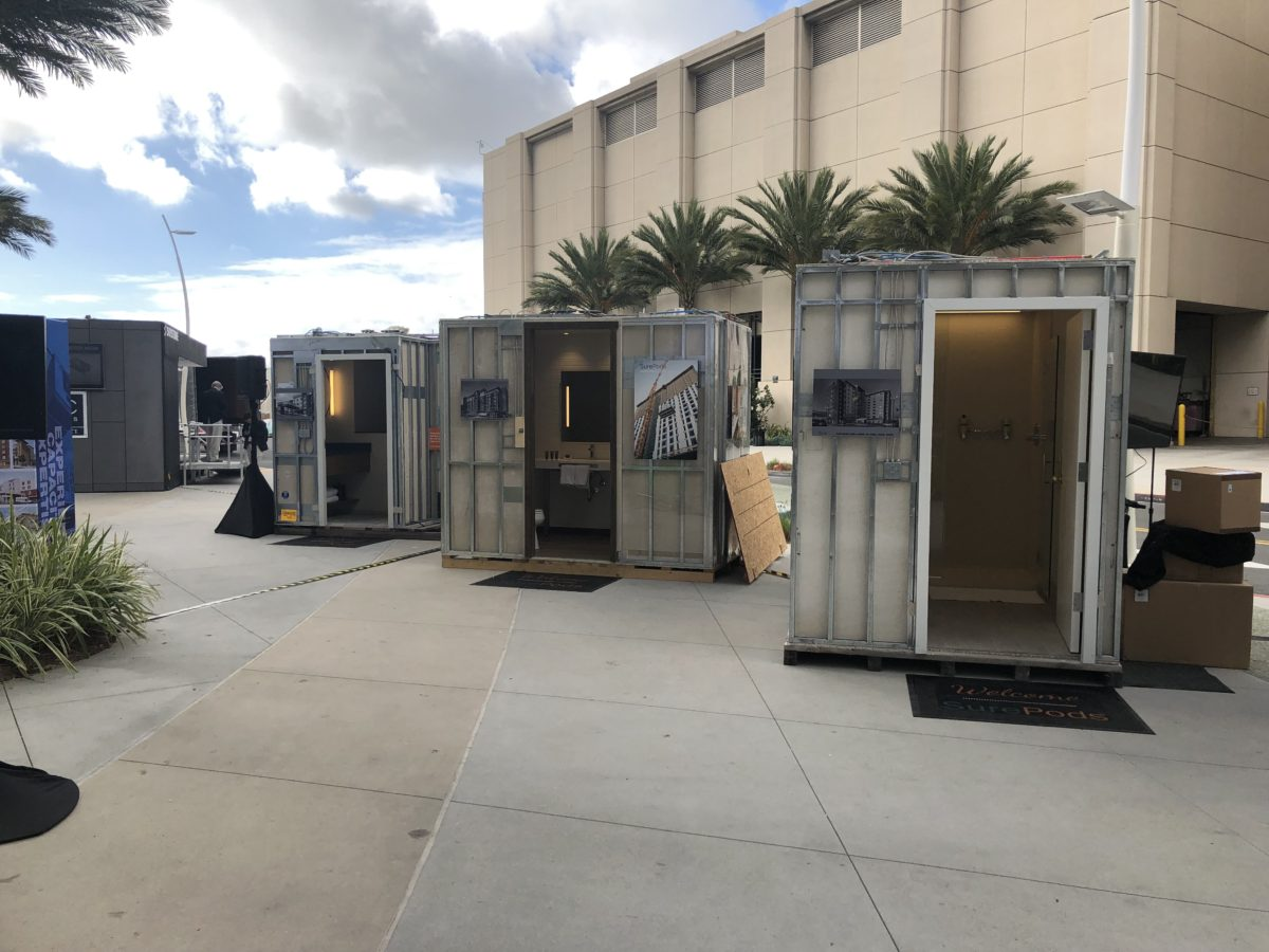 3 bathroom pods at Marriott CONNECT 2018