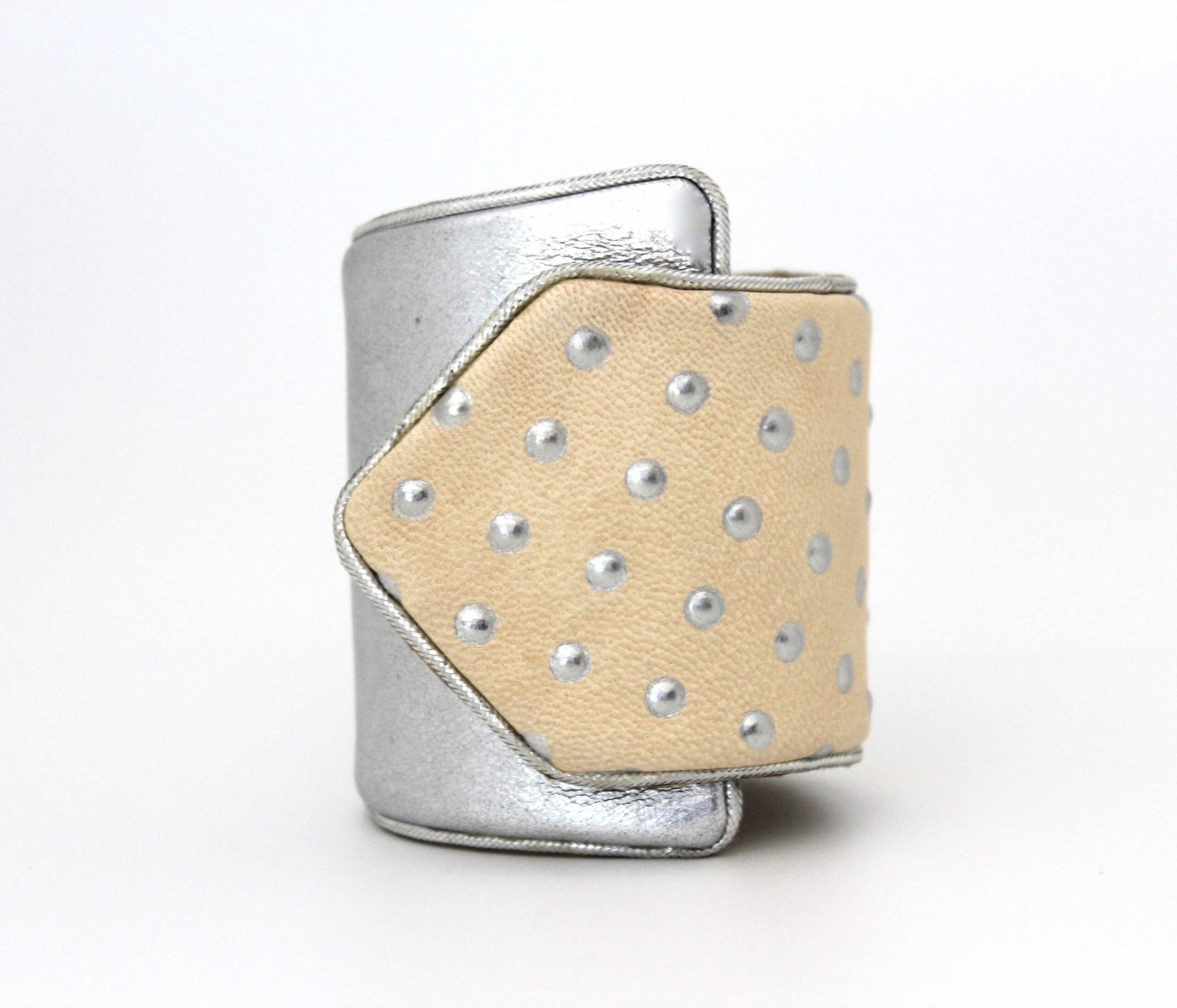 Kate Younger Designs Polka Dot Cuff Silver