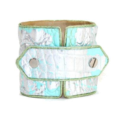 Aqua & Silver Lief Cuff
