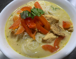 Thai Chicken Leftovers into Lemongrass Soup