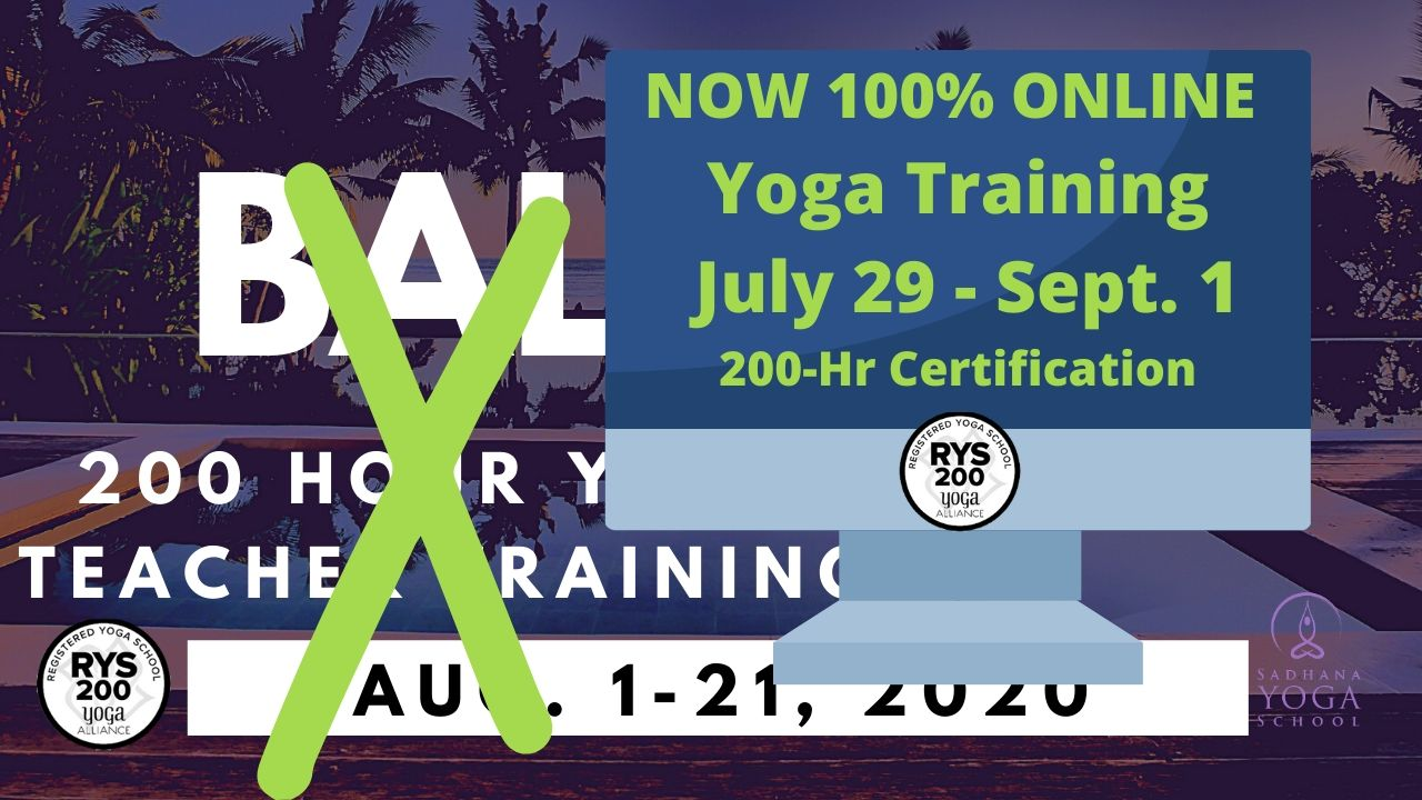 200-hour Online Yoga Teacher Training Starts July 29