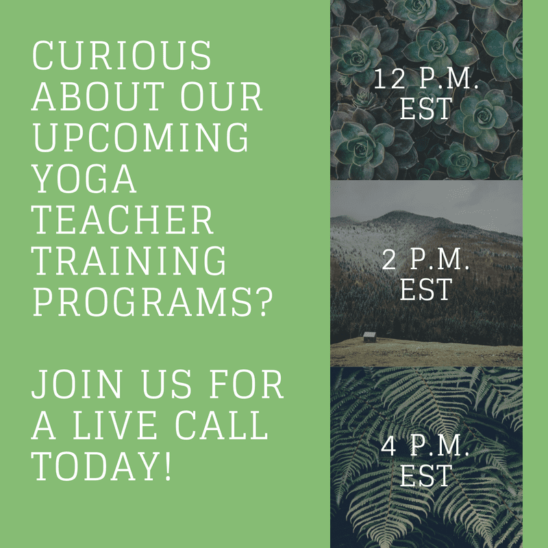 Join Us For A LIVE Call To Learn More About Yoga Teacher Training