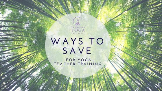 ways to save for yoga teacher training