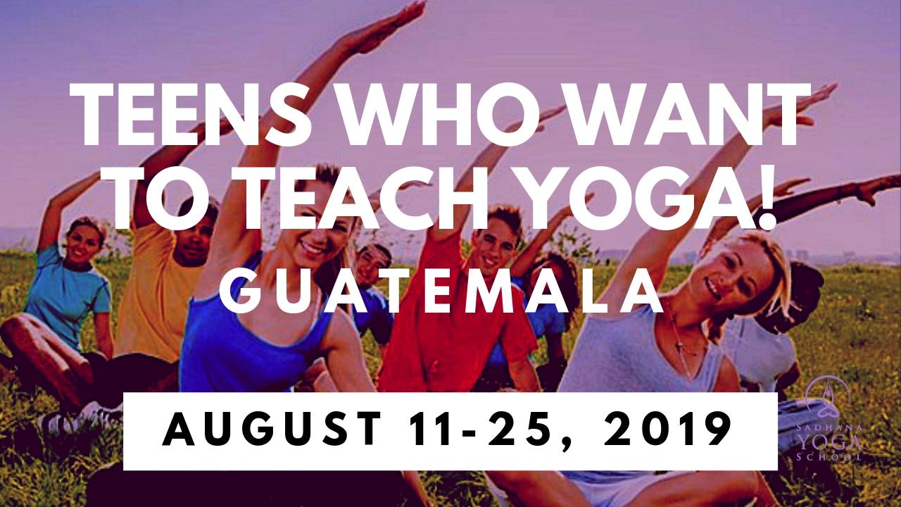 Yoga Training – Teens Who Want To Teach Yoga