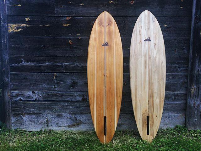 Custom made wooden surfboards from Grain Surfboards.