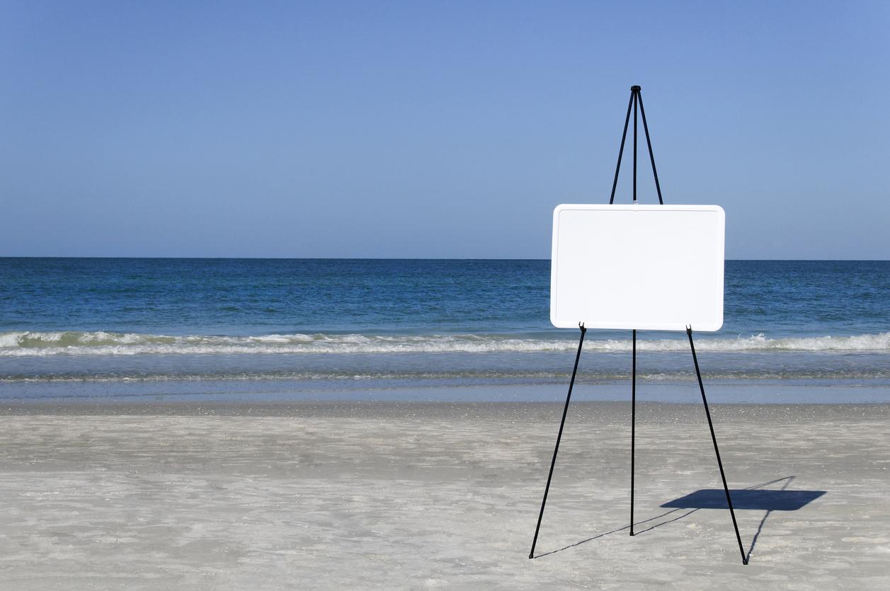 Flipchart on the beach