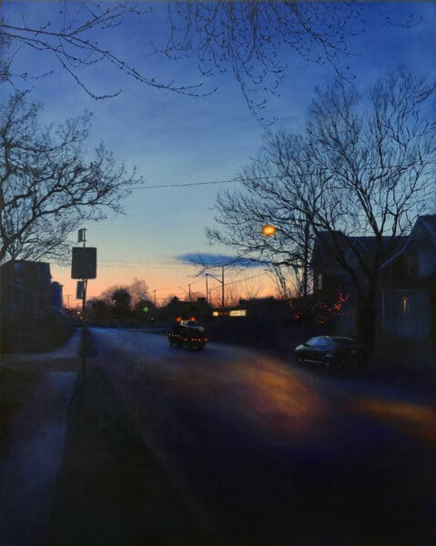 Oil painting on canvas of a Toronto city landscape by Canadian artist Joanna Strong