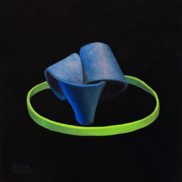 Oil painting of a rubber bands by artist Joanna Strong