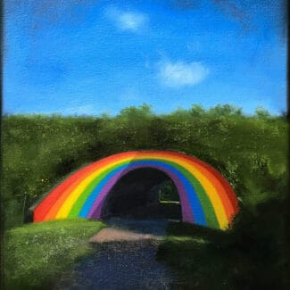 Oil painting by artist Joanna Strong of the Rainbow Tunnnel in Toronto.