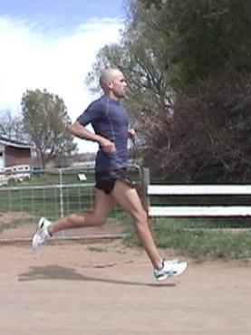 Runner heel striking on an extended leg downhill: an indication for Anterior Shin Splints