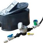KIT Cajilla Acuabox con tapa mirilla, +Medidor Velocidad Chorro unico Plastico R160 1/2″, +Registro PVC Antifraude Hembra X Acople, +Registro PVC de Paso