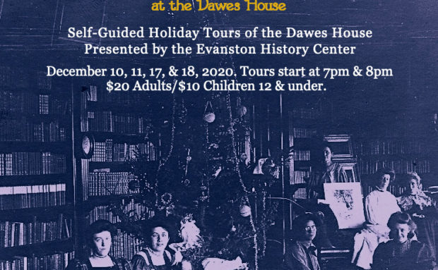 Recording of Facebook Live Tour of the Dawes House Decorated for the Holidays!