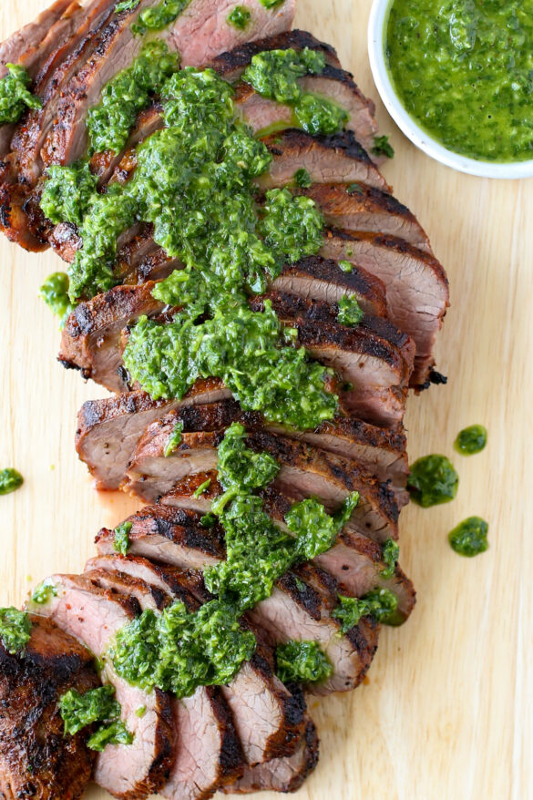 Grilled Tri Tip Steak with Chimichurri