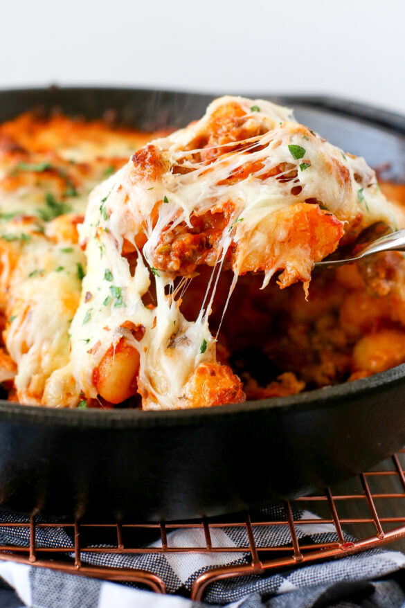 baked gnocchi with sausage