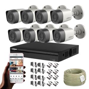 KIT CCTV DAHUA DVR PENTAHIBRIDO KIT-10