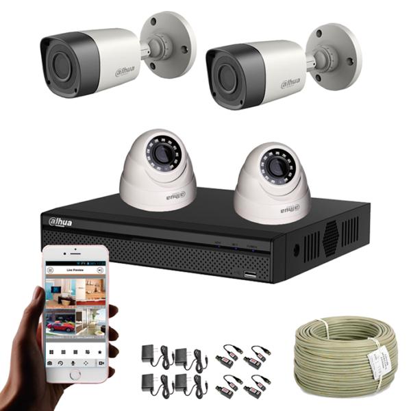 KIT CCTV DAHUA DVR PENTAHIBRIDO KIT-5