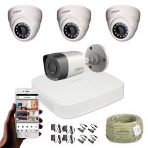 KIT CCTV DAHUA MINI DVR PENTAHIBRIDO KIT-7
